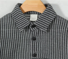 Load image into Gallery viewer, Black Stripes Shirt (6mths-4yrs old)