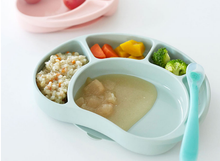 Load image into Gallery viewer, Silicone Food Tray Palatte - with lid & suction base (Made in Korea)
