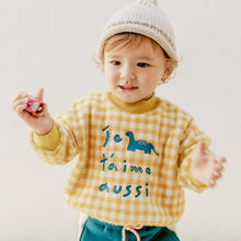 Load image into Gallery viewer, Denise Checked Knit Sweater (1-7 yrs old)