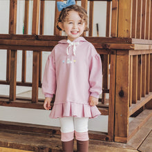 Load image into Gallery viewer, Lace Ribbon Hooded Sweater Dress (1-7yrs old)