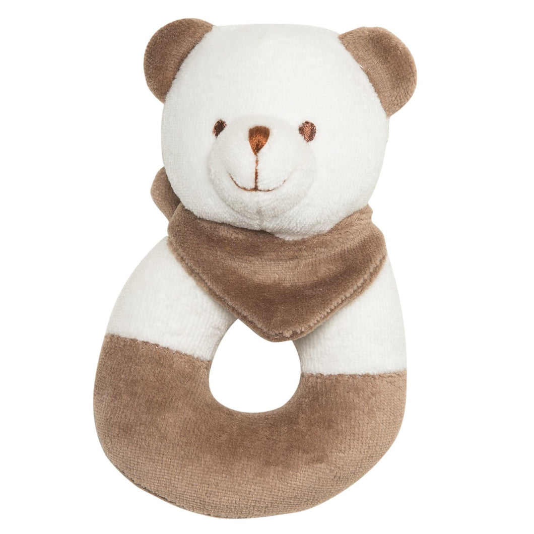 Bobby Bear Brown Rattle