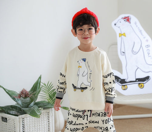 Bear Lettering Sweater (2-8yrs old)