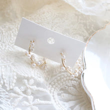 Load image into Gallery viewer, Pearl Ring Earrings (Handmade in Korea)
