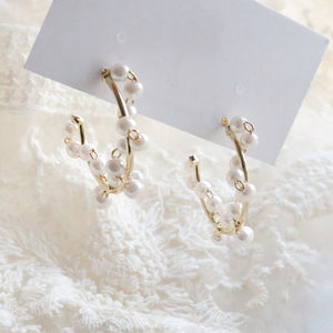 Pearl Ring Earrings (Handmade in Korea)