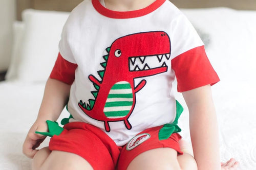 Dinosaur Tee and Pants 2pcs Set (1-7yrs)