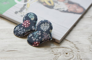 Flower Heart Hair Clip (Handmade from Korea)