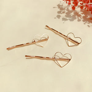 Gold Heart Hairpin (Handmade in Korea)