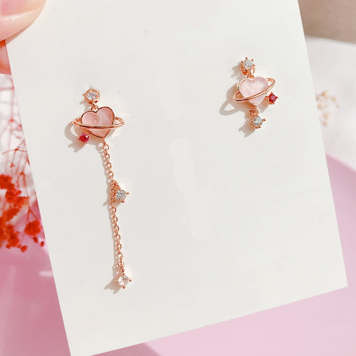 Heart Planet Earrings (Handmade in Korea)