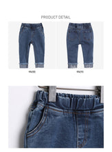 Load image into Gallery viewer, Smiley Denim Jeans (1-6yrs old)