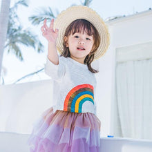 Load image into Gallery viewer, White Rainbow Top (1-6yrs old)