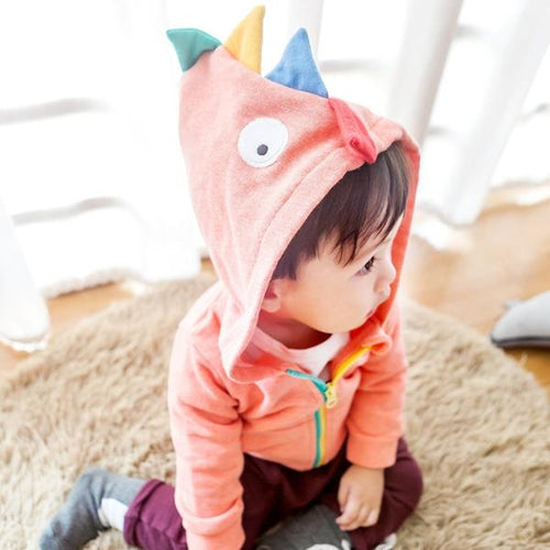 Orange Dinosaur Zipped Hoody Jacket (3-18mths)