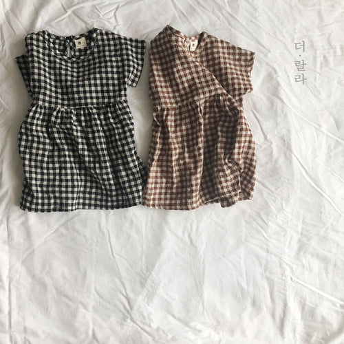 Checkered Dress (1yrs-6yrs)