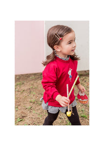 Red Sweater Blouse (1-6yrs old)