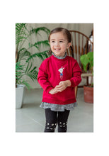 Load image into Gallery viewer, Red Sweater Blouse (1-6yrs old)