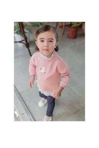 Pink Sweater Blouse (1-6yrs old)