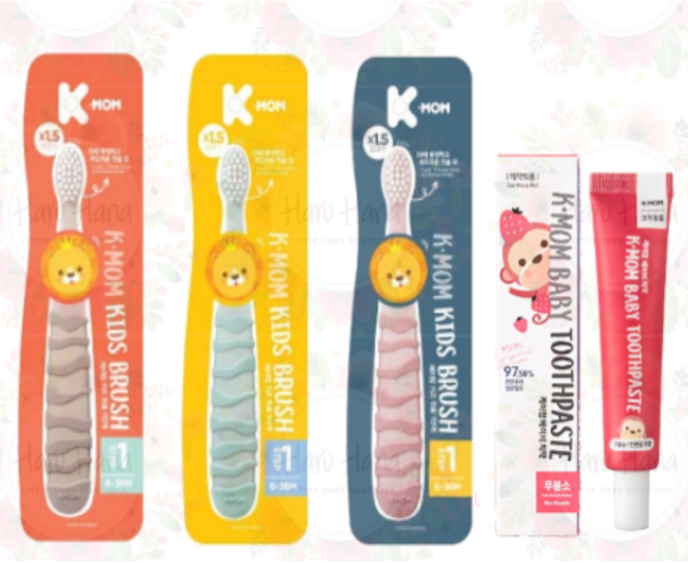 K-Mom Baby Toothpaste & Step 1 Toothbrush Set