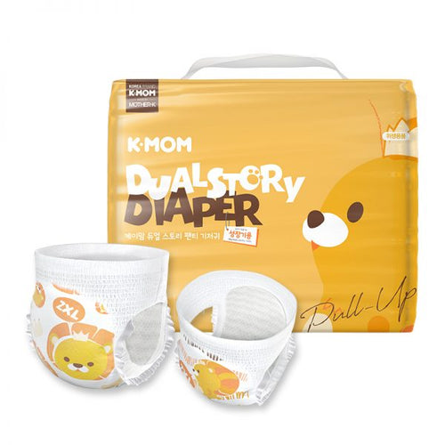 K-Mom Dual Story Diapers/Nappies Pants Size XXL 15kg and up (30pcs)