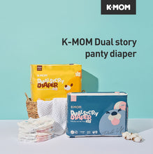 Load image into Gallery viewer, K-Mom Dual Story Diapers/Nappies Pants Size L 9-14kg - 3 packs (102pcs)