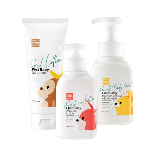 K-Mom First Skincare Summer Moisture Set (Body Wash, Lotion & Gel Lotion)