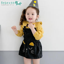 Load image into Gallery viewer, Black Kitten Dress (1-4yrs old)