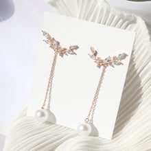 Load image into Gallery viewer, Line Pearl Drop Earrings (Handmade in Korea)