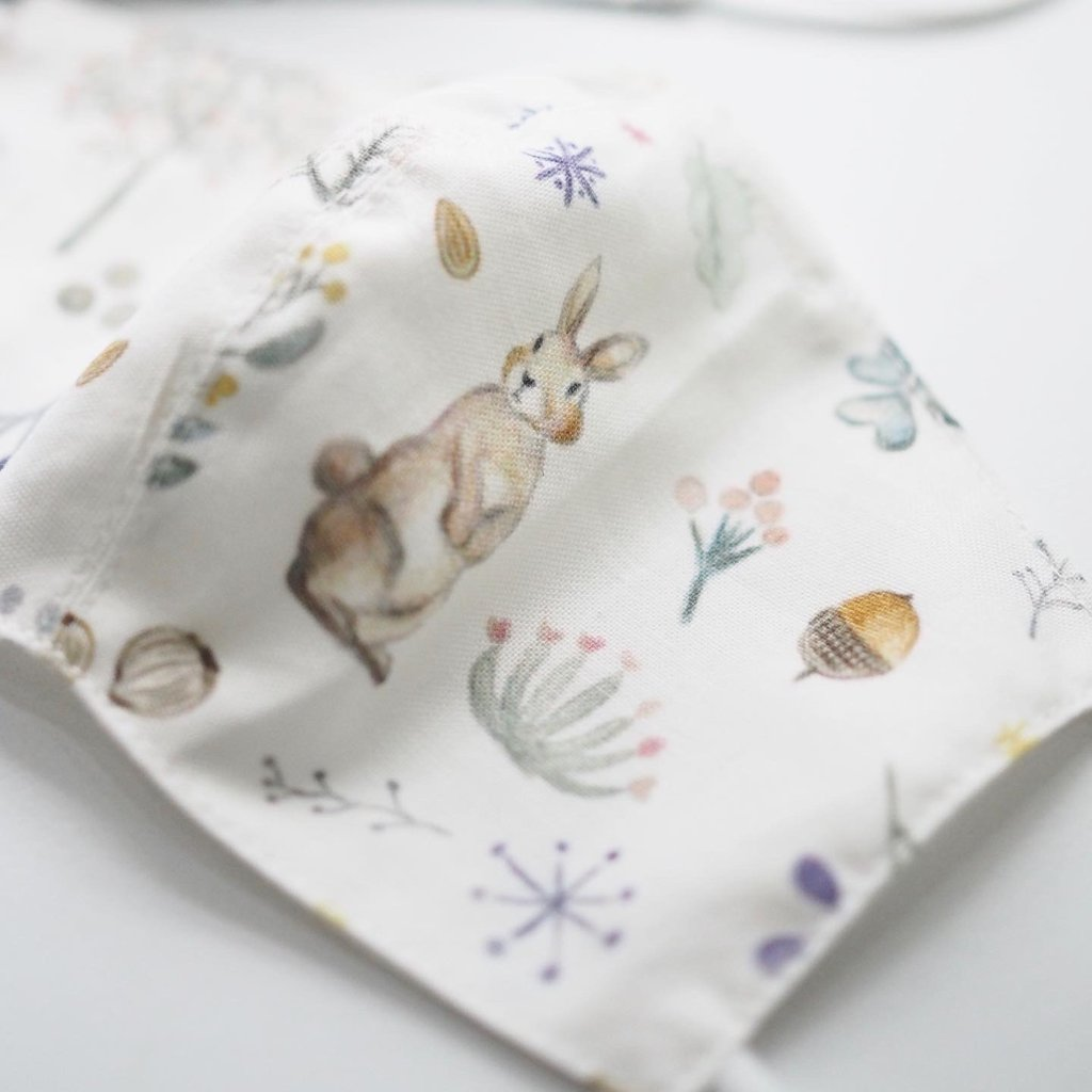 Cotton Face Mask made from Korean fabric (Child/Adult) - Lovely Bunny