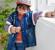 Load image into Gallery viewer, Cozen Knit Denim Jacket (3-9 yrs old, Mum)