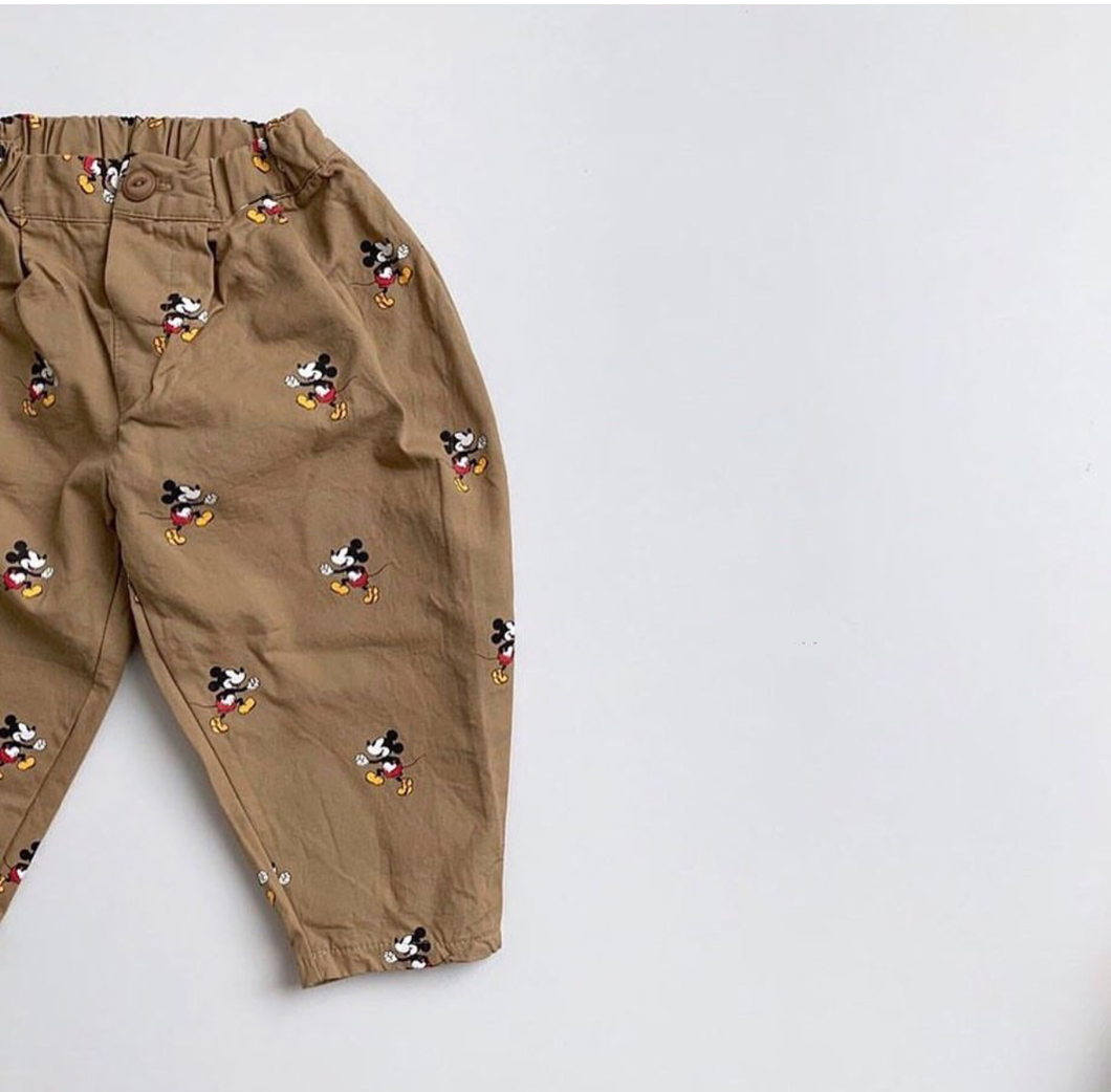 Mickey Moure Khaki Pants (2-7yrs old)