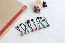 Load image into Gallery viewer, Mini Floral Button Hair Bobbles (Handmade in Korea)