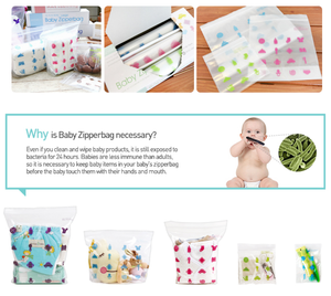 Mother-K Eco-friendly Baby Zipper Bag Basic 55pcs (Pre-order)