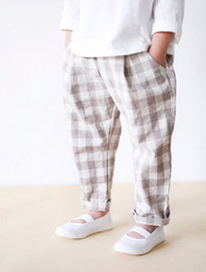 Mocha Checkered Pants (2-6yrs old)