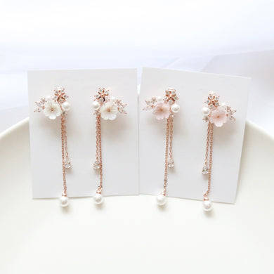 Pearl Gypsophila Earrings (Handmade in Korea)
