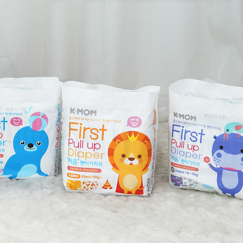 K-Mom First Pull Up Diaper (M,L,XL,Jumbo)