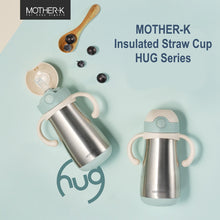 Load image into Gallery viewer, Mother-K Hug Insulated Thermos Stainless Steel Straw Bottle (350mL) & Hug Straw Refill Set