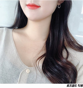 Swan Round Earrings (Handmade in Korea)