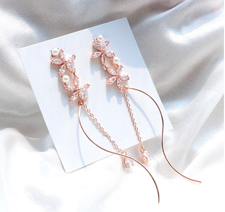 Wave Flower Earrings (Handmade in Korea)