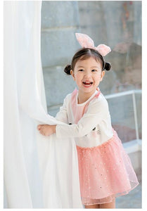 Girls Pink Kitty Dress (1-4yrs old)