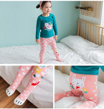 Load image into Gallery viewer, Pink Bunny Legging and Socks Set