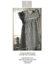 Checkered Wing Blouse (Adult) - PRE-ORDER