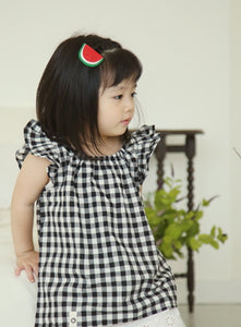 Checkered Wing Blouse - PRE-ORDER