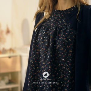 Navy Flower Dress (Adult)