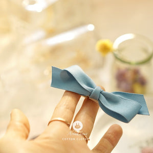 Blue Ribbon Hair Clip