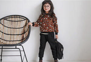Leopard Sweater 2pcs Set (1-5yrs old)