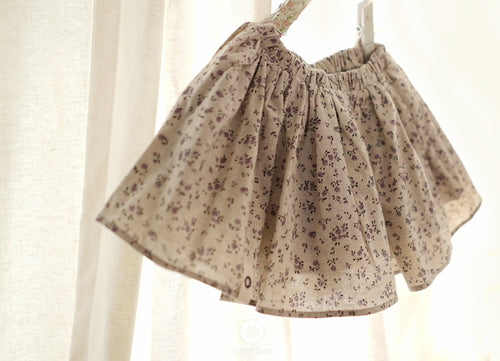 Violet Flower Volume Skirt (1-4yrs old)