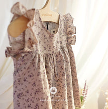 Load image into Gallery viewer, Violet Flower Wing Dress (1-4 years old)