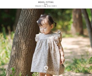 Violet Flower Wing Dress (1-4 years old)