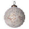 Embossed Mercury Ornament, white/gold