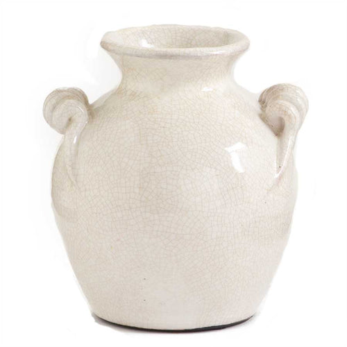 "6.5"" White European Ceramic Vase"