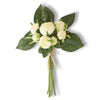 Real Touch White Cabbage Rose Bundle