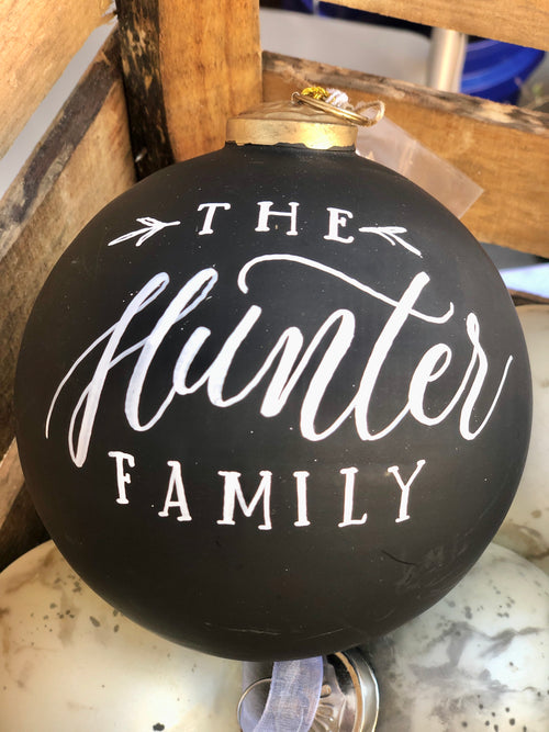Chalkboard Ornament with Chalk + customization